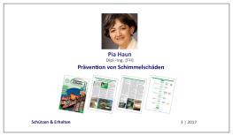 Pia Haun: Prävention von Schimmelschäden: Feuchtemanagement in der Bauphase – Teil 1