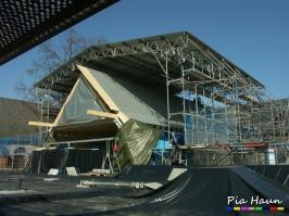 Schulgebäude in Trier  | Generalsanierung des  Klostergebäudes | Arbeiten im kontaminierten Bereich, Foto: © Ingenieurbüro Pia Haun - Trier