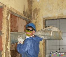 Arbeiten im kontaminierten Bereich | persönliche Schutzausrüstung - uncool, Foto: © Ingenieurbüro Pia Haun - Trier