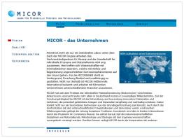 Micor - Labor für mikrobielle Prozesse und Materialkunde