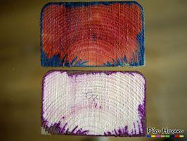 Chemischer Nachweis von Holzschutzmitteln mittels Farbreaktion | Foto: © Ingenieurbüro Pia Haun - Trier
