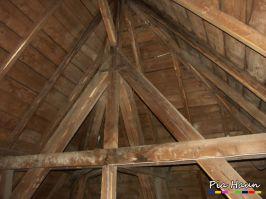 Verbandsgemeindeverwaltung in B. | Begutachtung der Holzkonstruktion  | Verdacht auf Holzschutzmittel, Foto: © Ingenieurbüro Pia Haun - Trier