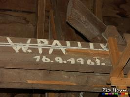 Verewigungen von Handwerker  |  Jahreszahl kann ersten Verdacht auf Schadstoffbelastung liefern, Foto: © Ingenieurbüro Pia Haun - Trier