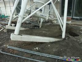 Grundbruch: Silo auf verfüllten Arbeitsraum aufgestellt, Foto: © Ingenieurbüro Pia Haun - Trier