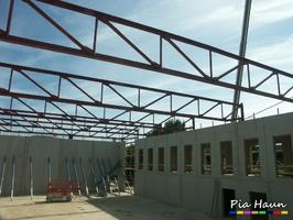 Friedrich-Spee-Gymnasium, Neubau einer Sporthalle mit Mensa | Trier- Ehrang, Foto: © Ingenieurbüro Pia Haun - Trier