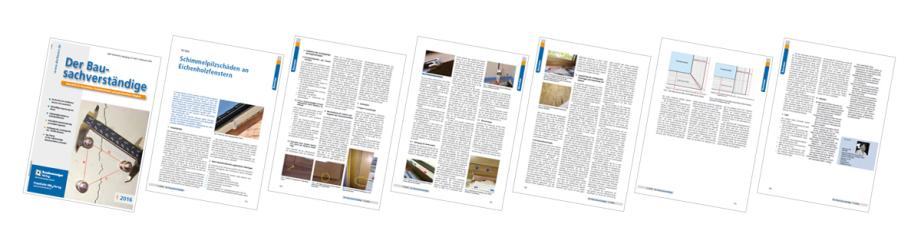 Der Bausachverständige 1/2016 | Pia Haun: Schimmelpilzschäden an Eichenholzfenstern | Seite 6
